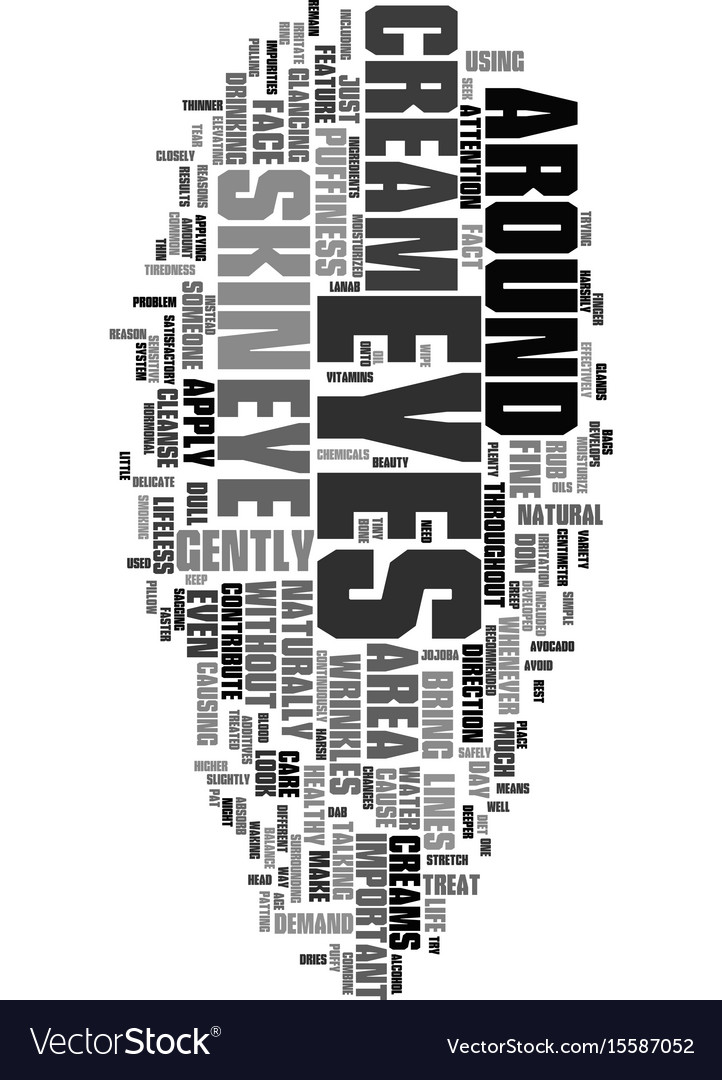 Your eyes have it text word cloud concept vector image