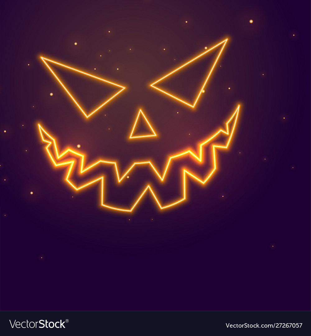 Laughing ghost face neon style halloween festival