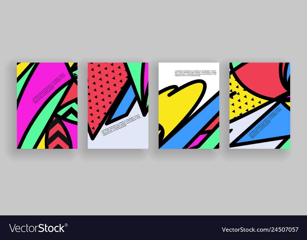 Minimal covers design placard templates set with