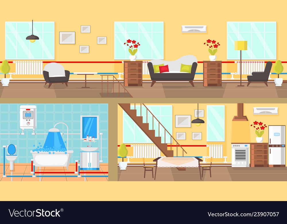 Dining Room Cartoon Clipart Vector Images 50