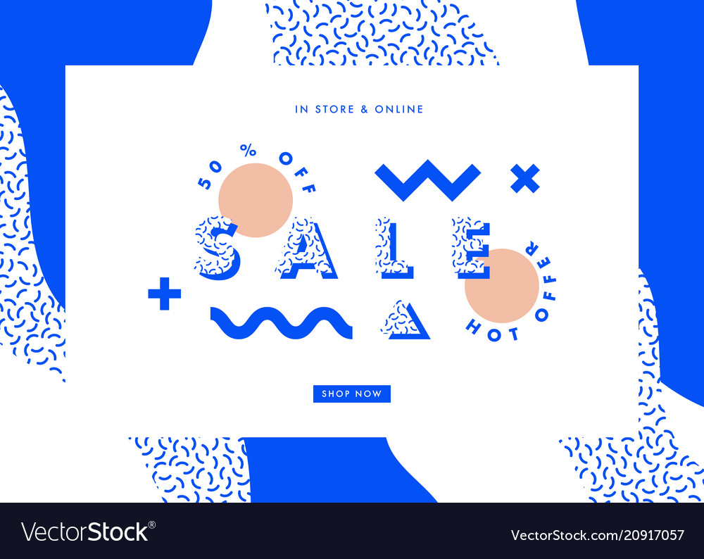 Sale banner abstract design