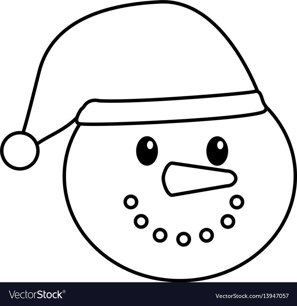Snowman character christmas card
