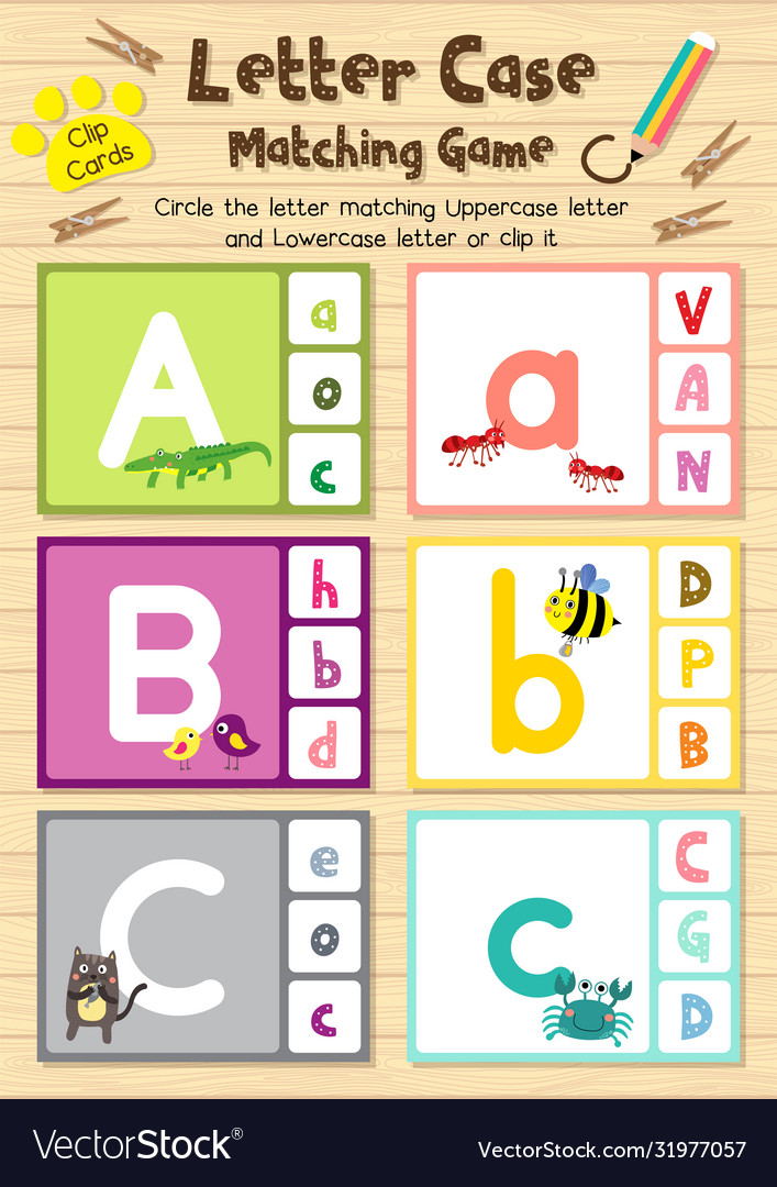Matching letters with pictures worksheets