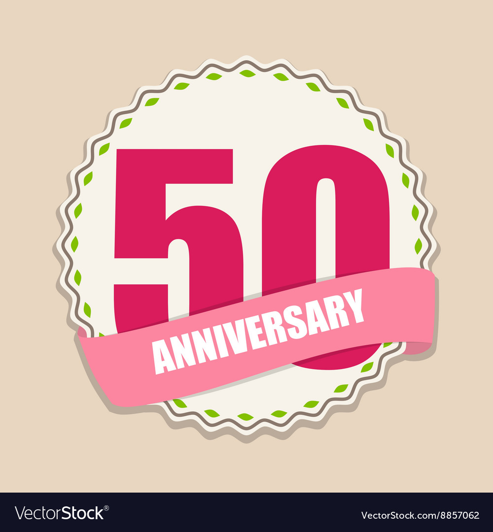 Cute Template 50 Years Anniversary Sign