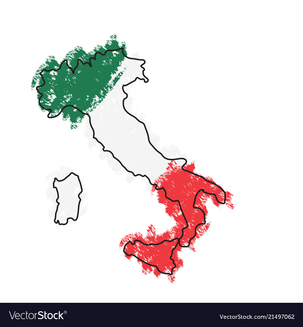 Pdf Map Of Italy.Sketch Of A Map Of Italy