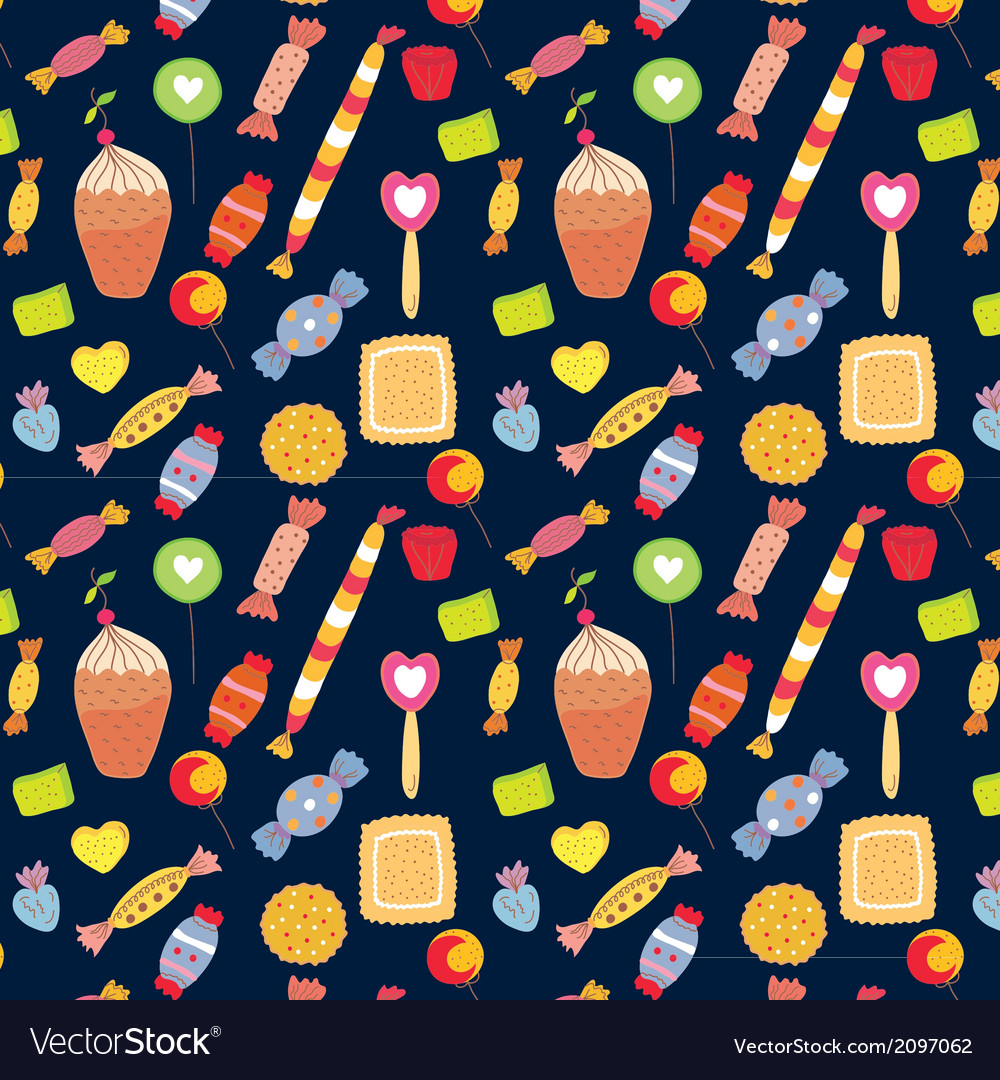 Sweets funny background with candies