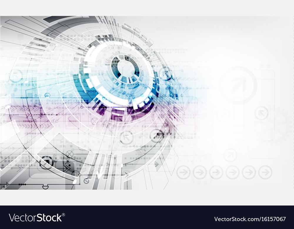 Abstract color digital communication technology vector image