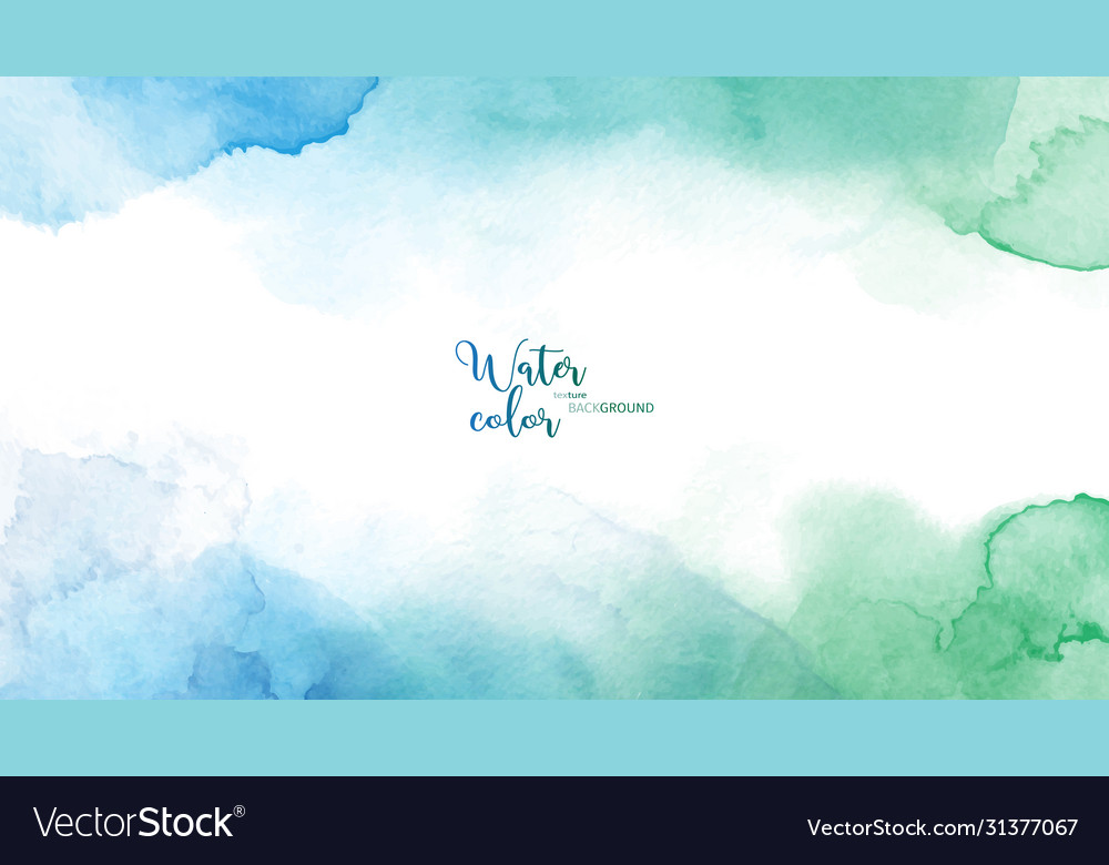 Blue green abstract watercolor background