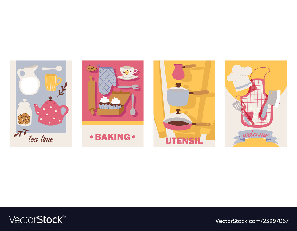 Cooking cards teatime baking utensil welcome