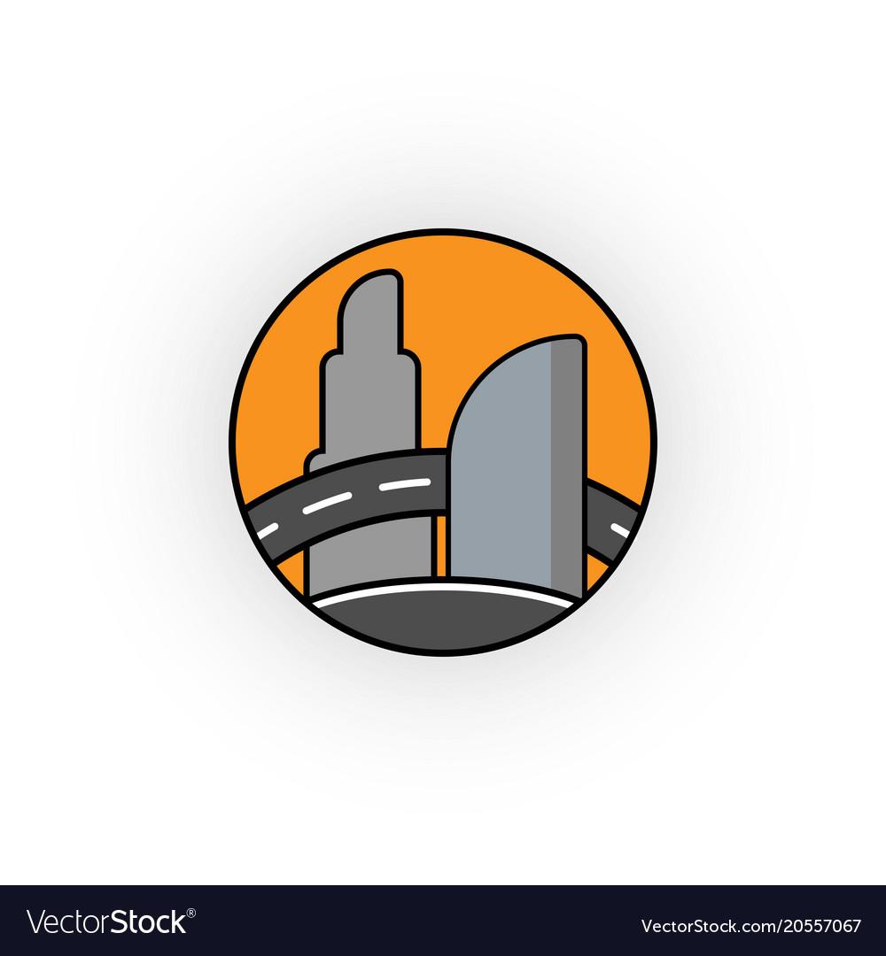 Creative construction the logo of vector image