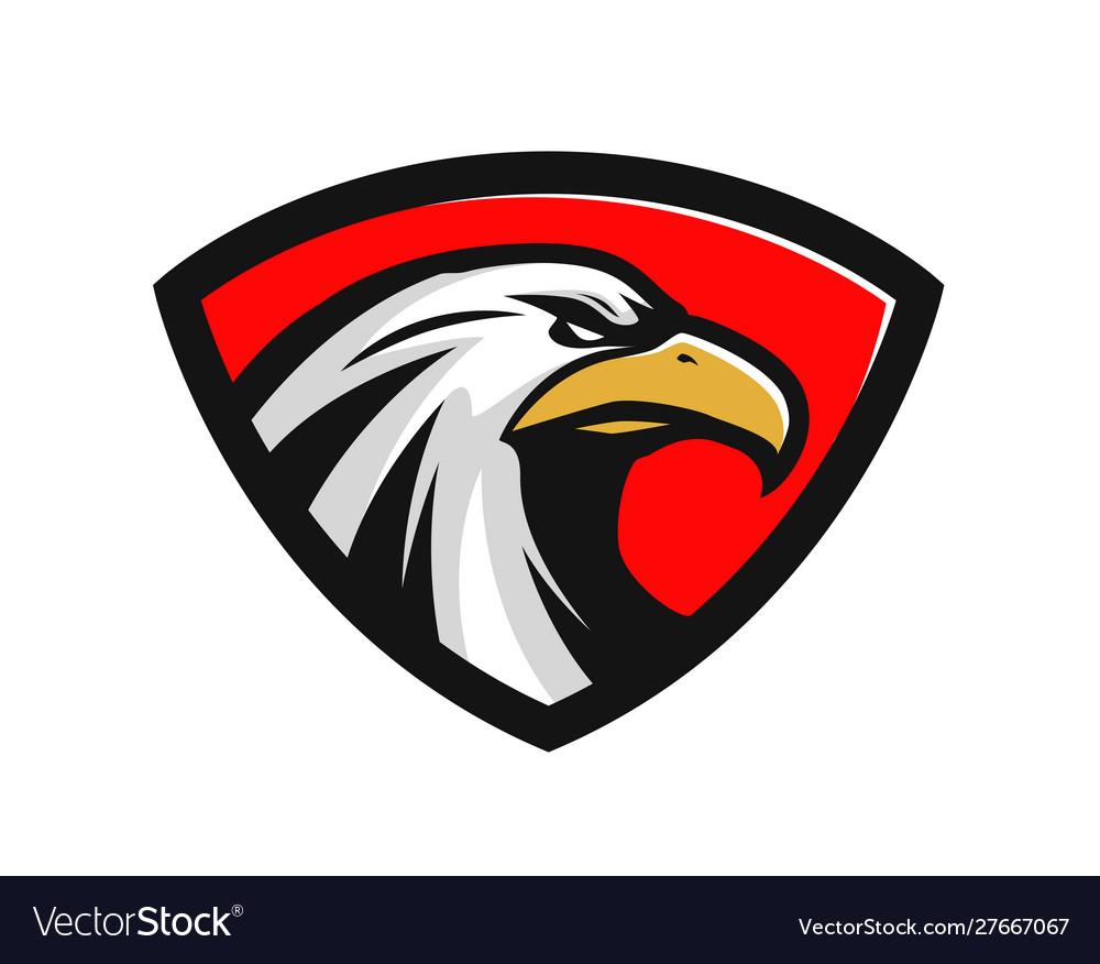 Eagle logo or label sports mascot
