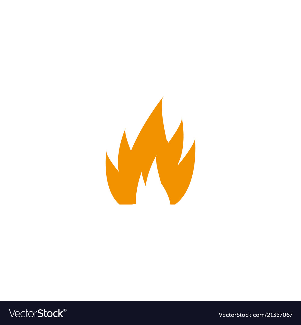 Fire icon for design on whit