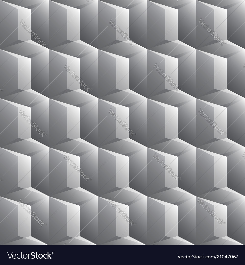 Gray seamless pattern with triangles and trapezes
