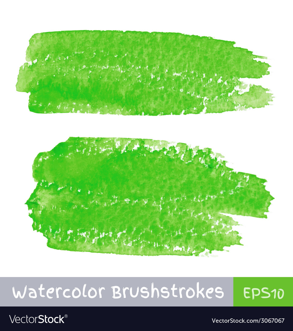 Green Watercolor Brush Strokes for your design