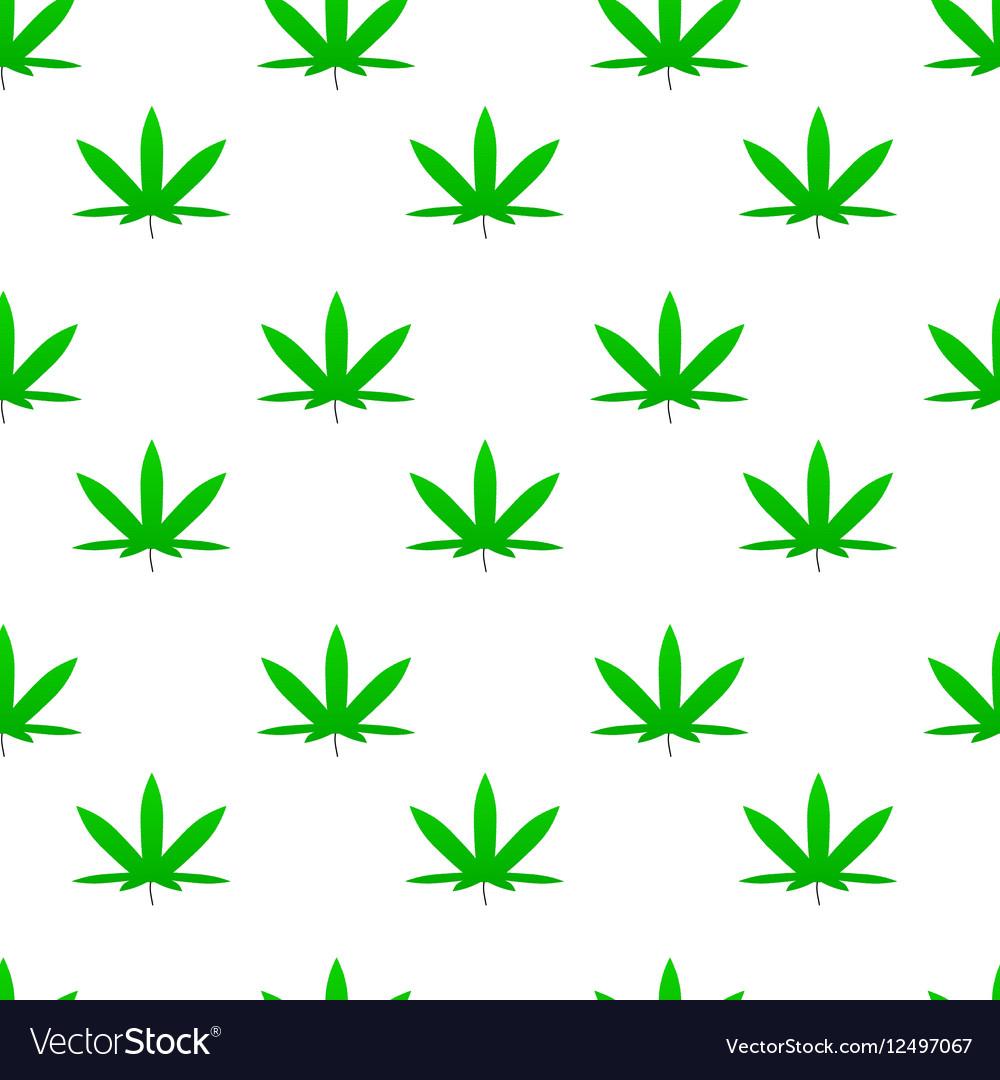Green weed cannabis leaf pattern