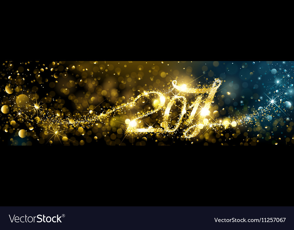New Year fireworks with bokeh effects vector image