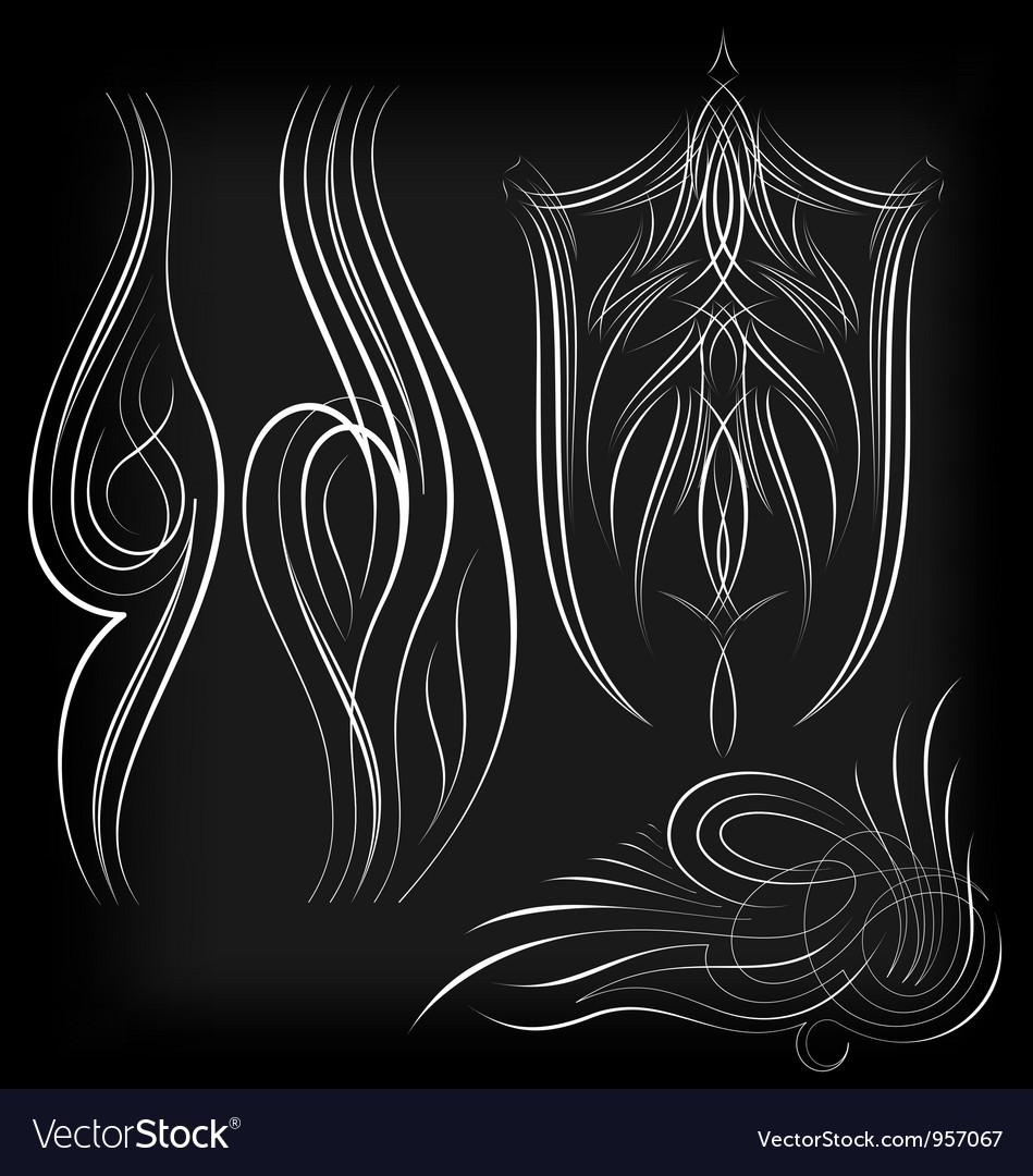 Pinstriping set1 vector image