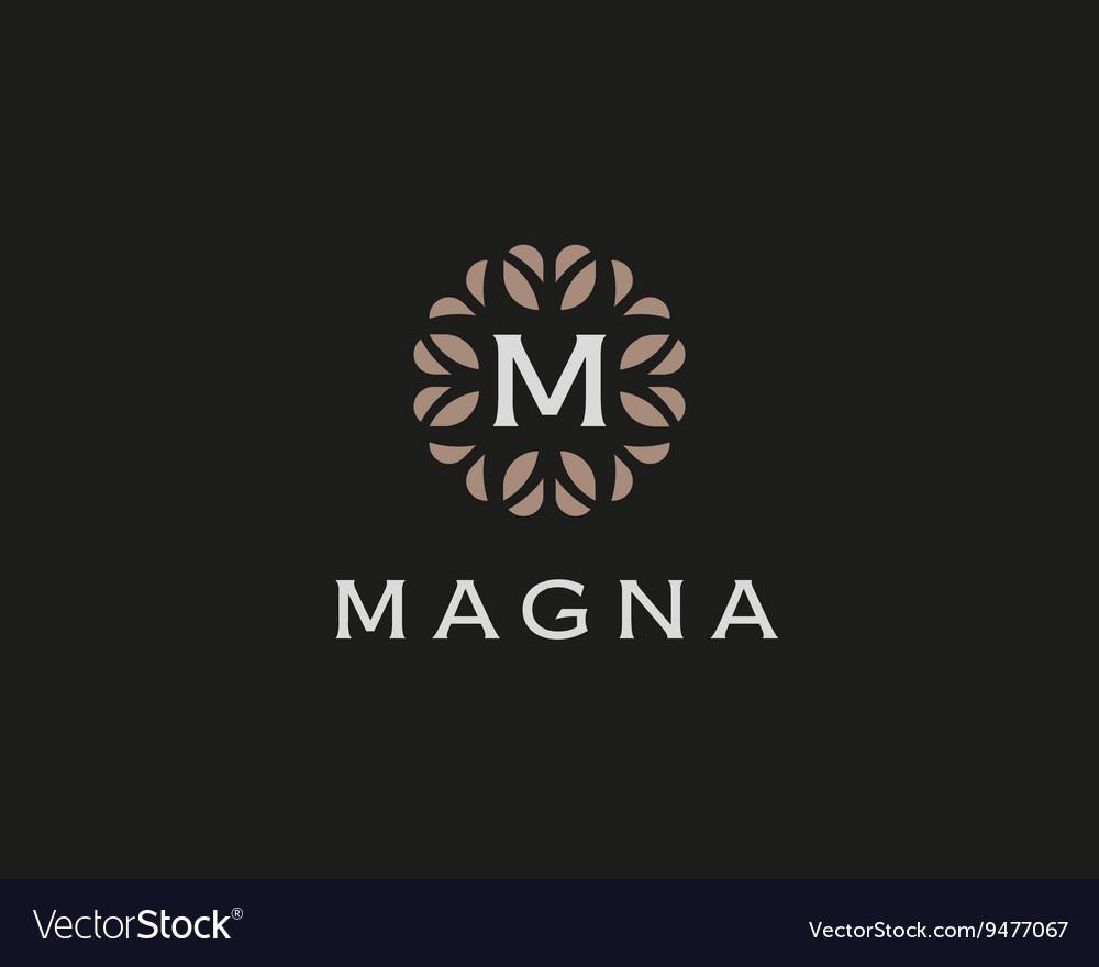 Premium monogram letter M initials logo Universal