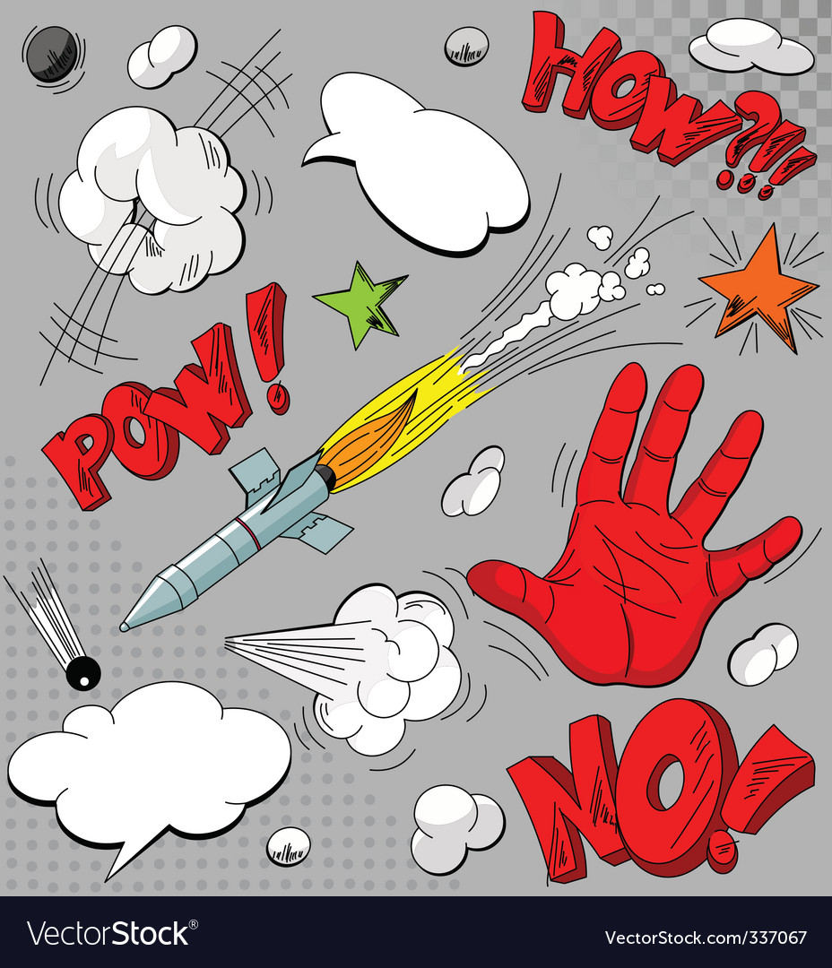 Set of comic book explosions vector image
