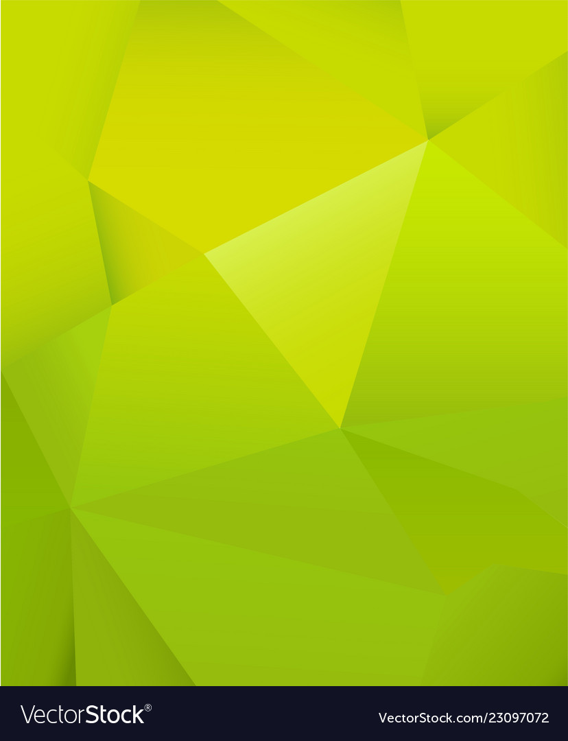 Abstract green background with many triangle