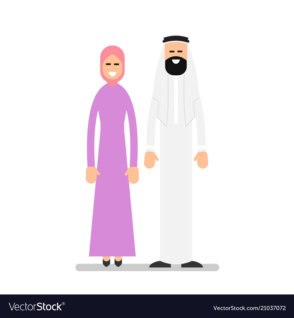 Arab couple arabic man and woman in traditional