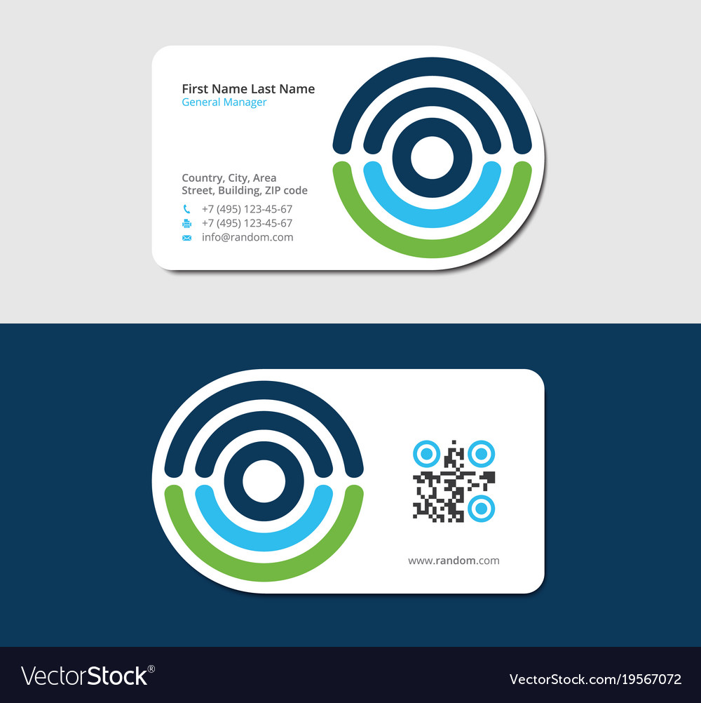 Business card for medical laboratory Royalty Free Vector