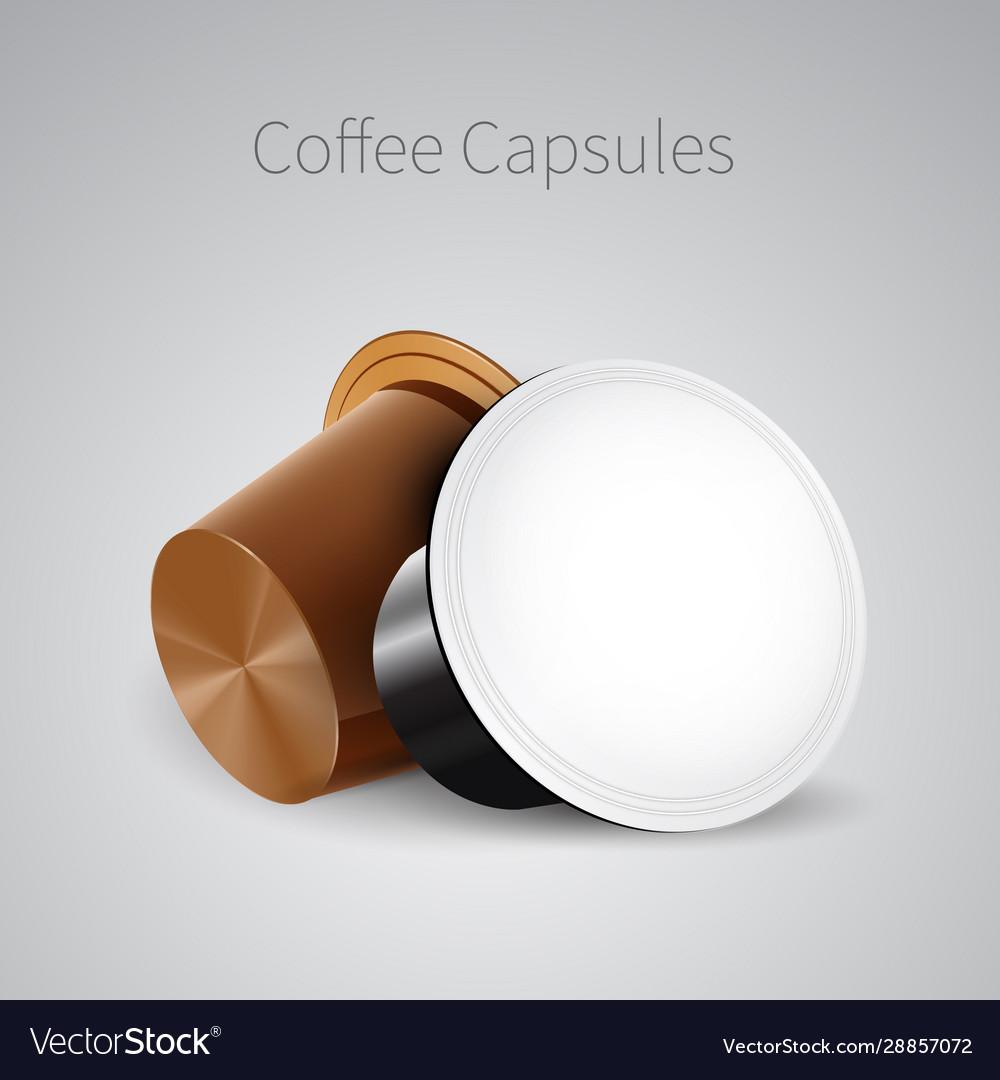 Coffee in capsules for espresso machine