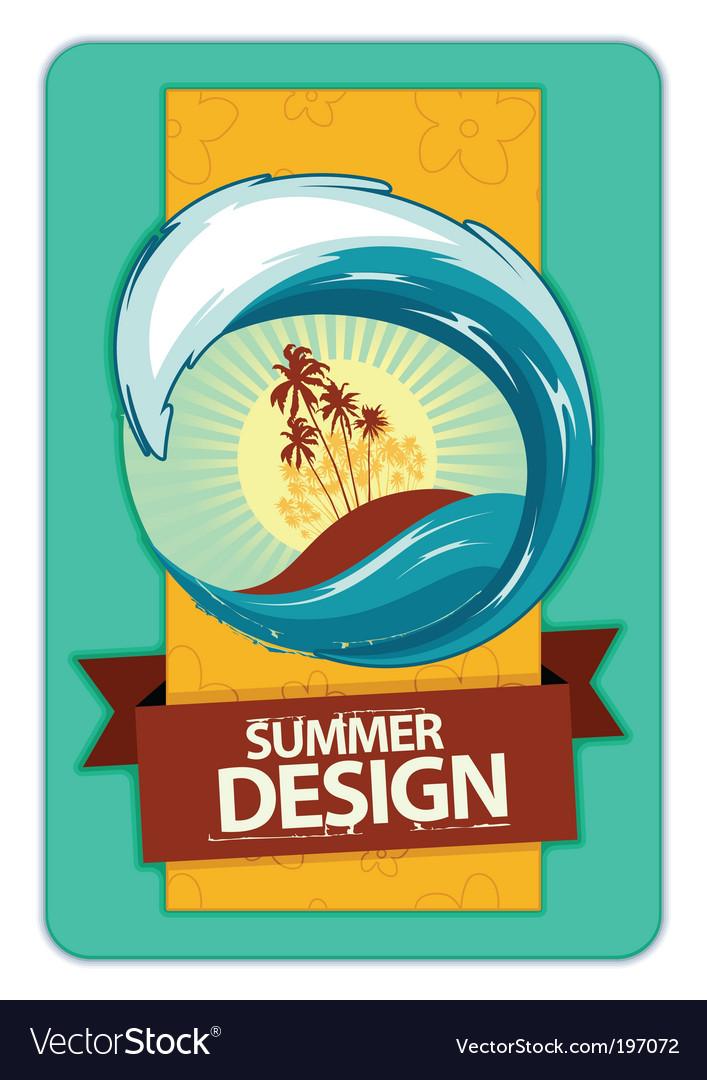 Grunge summer poster