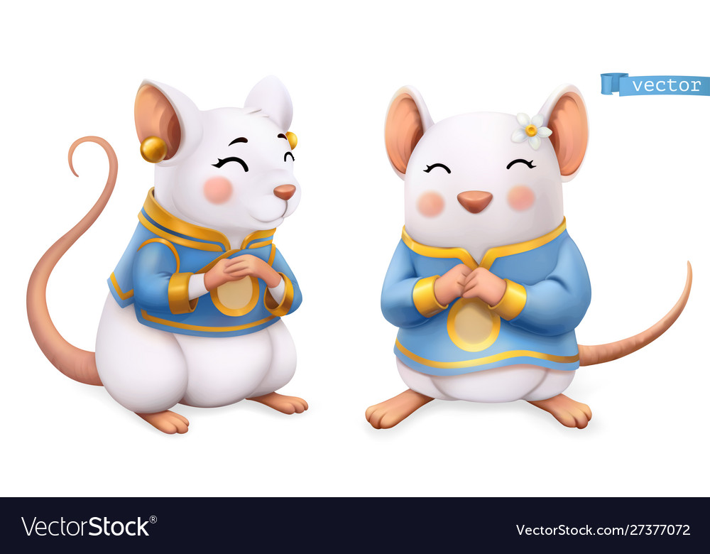 Rat mouse funny animal in chinese zodiac