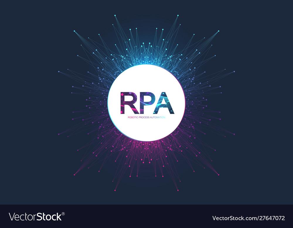 Rpa robotic process automatisation futuristic
