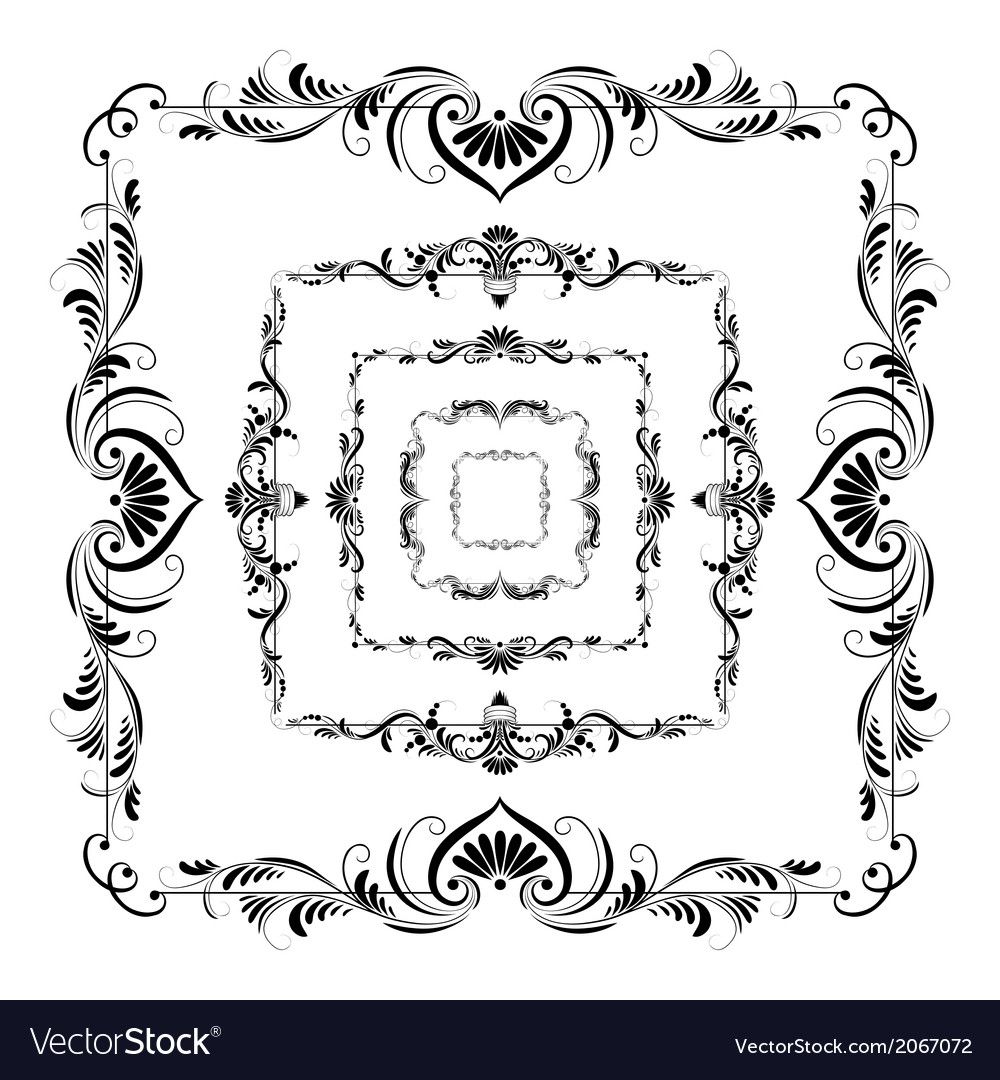 Set of frames for design vector image