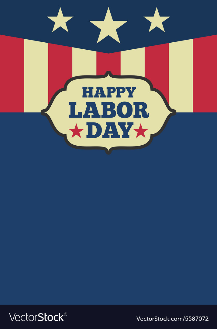 USA Labor day vertical background