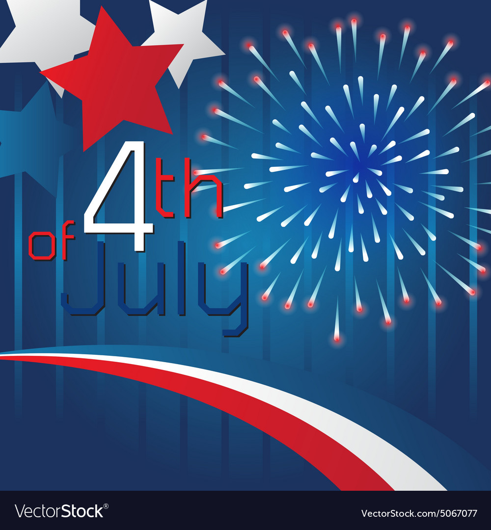 4th of july background template design royalty free vector