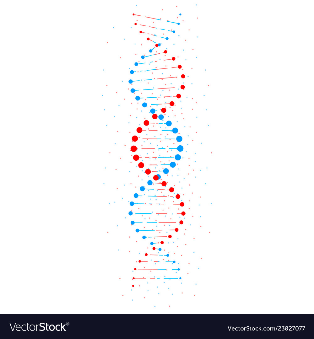 Abstract dna structure isolated on white