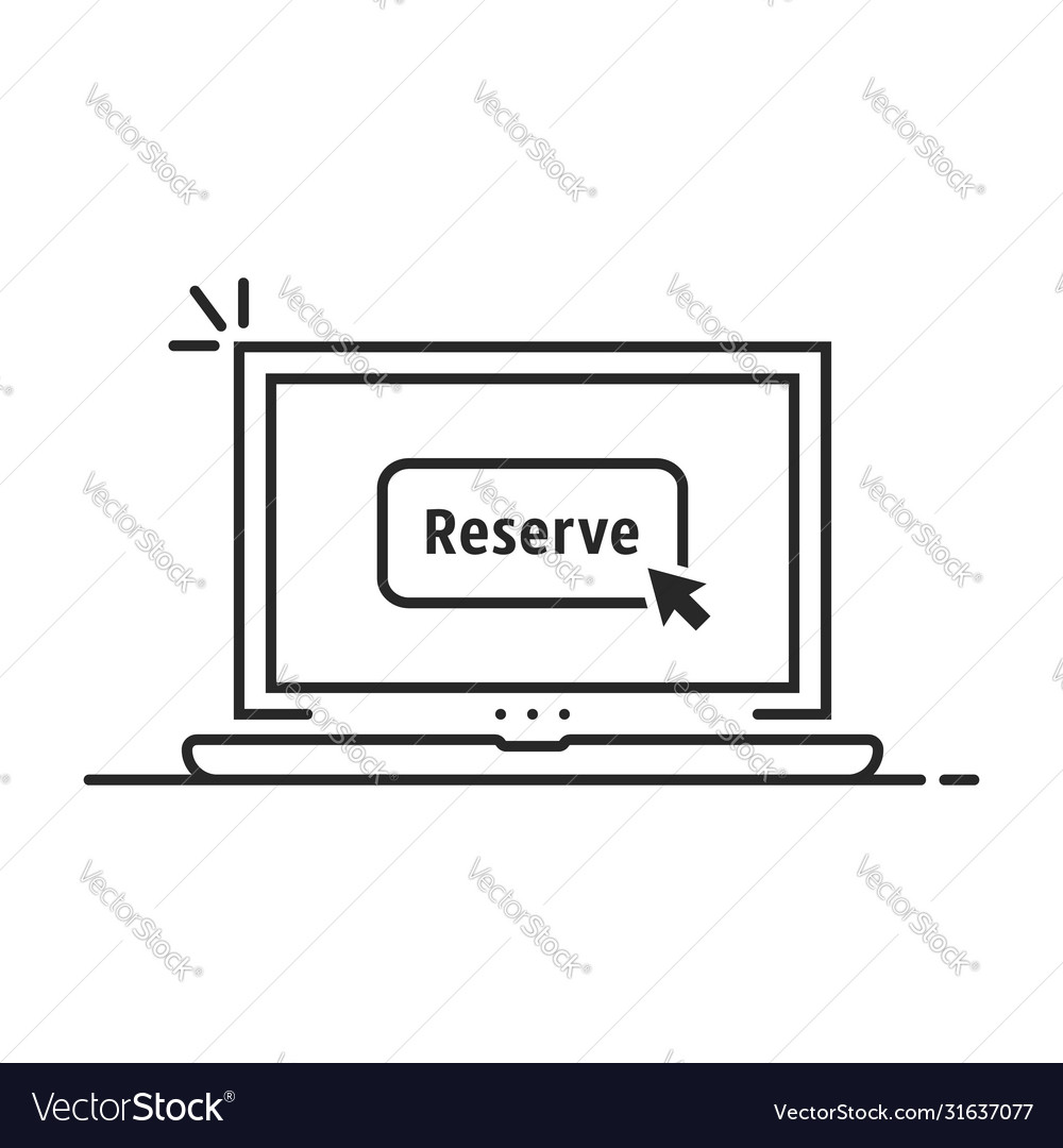 Black linear laptop with book now