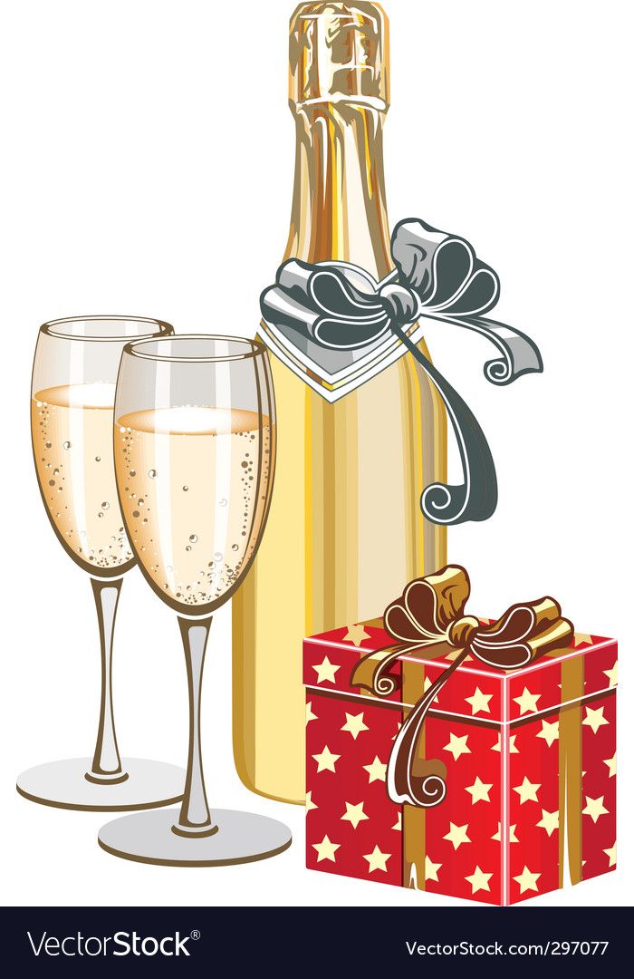 champagne bottle royalty free vector image vectorstock