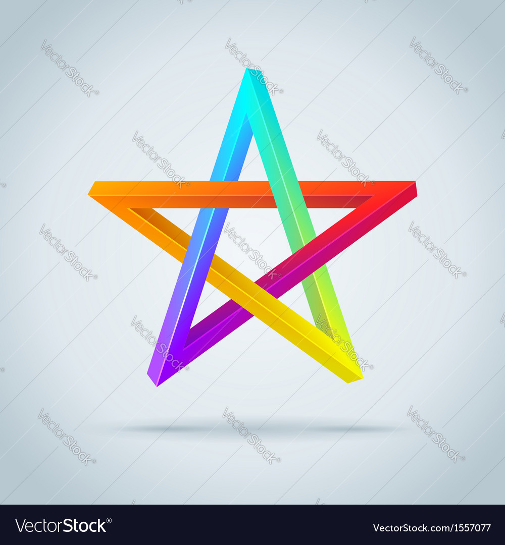 Colorful Inconceivable Pentagram vector image