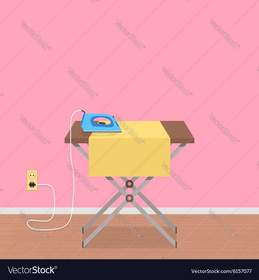 Concept of house work with ironing board and