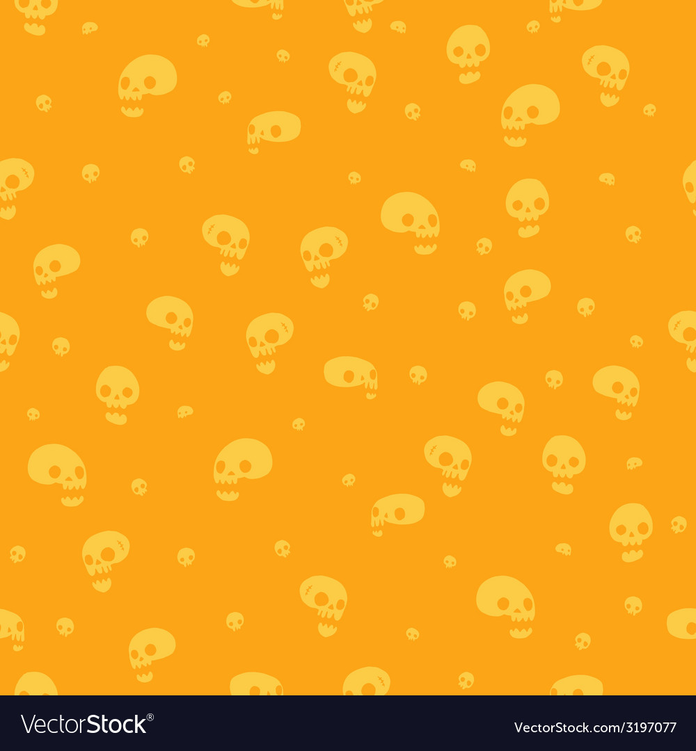 Halloween party skull background seamless pattern