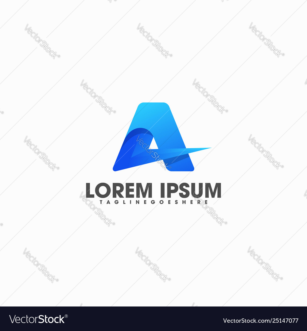 Letter a colorful template