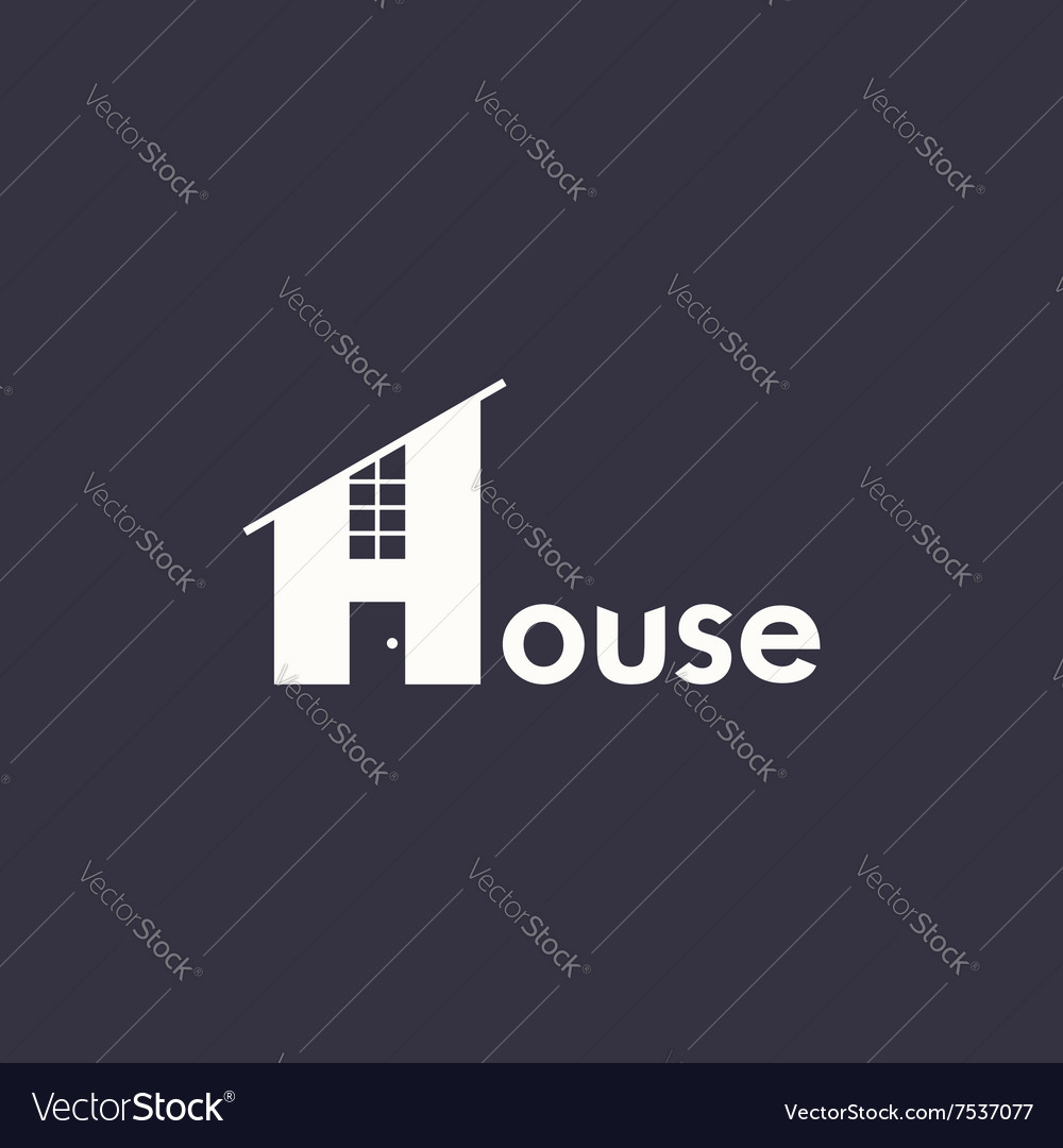 Logo house with word house