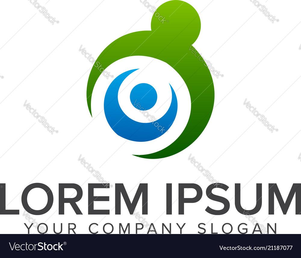 Parenting family logo design concept template