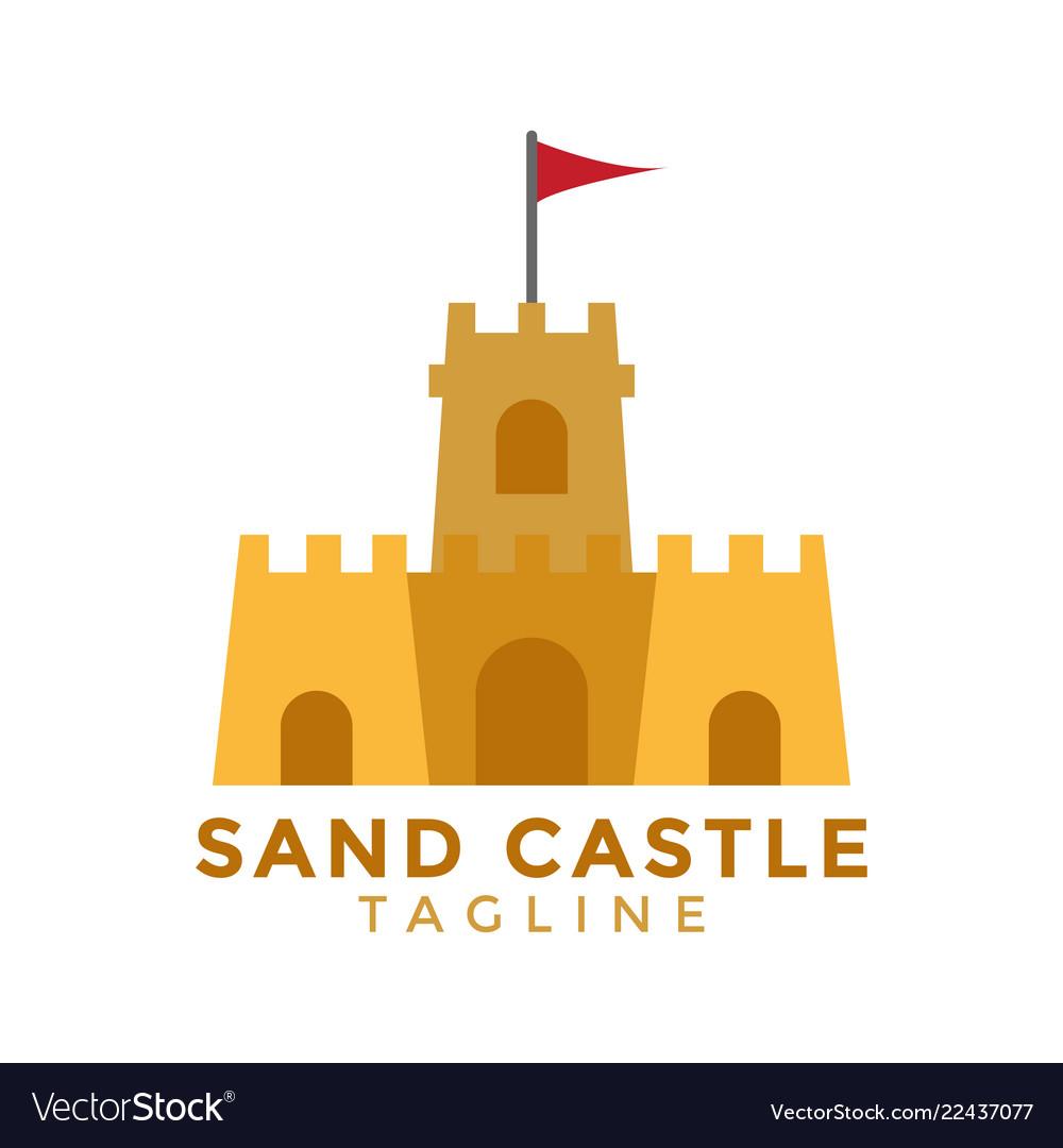 Sand castle graphic design element
