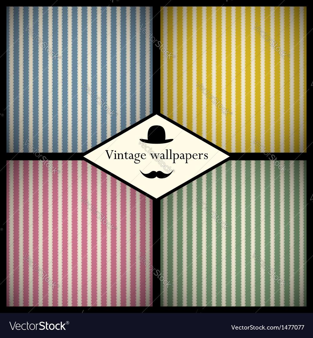 Set of vintage striped patterns