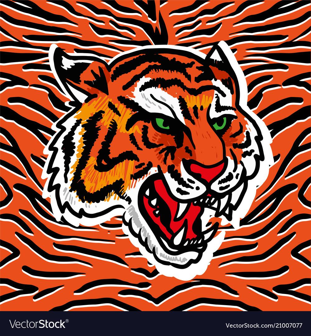 Wild tiger print