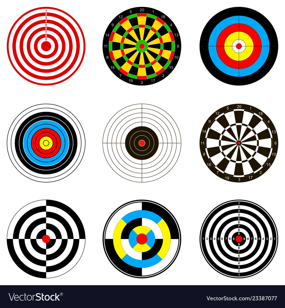 With dartboards for darts