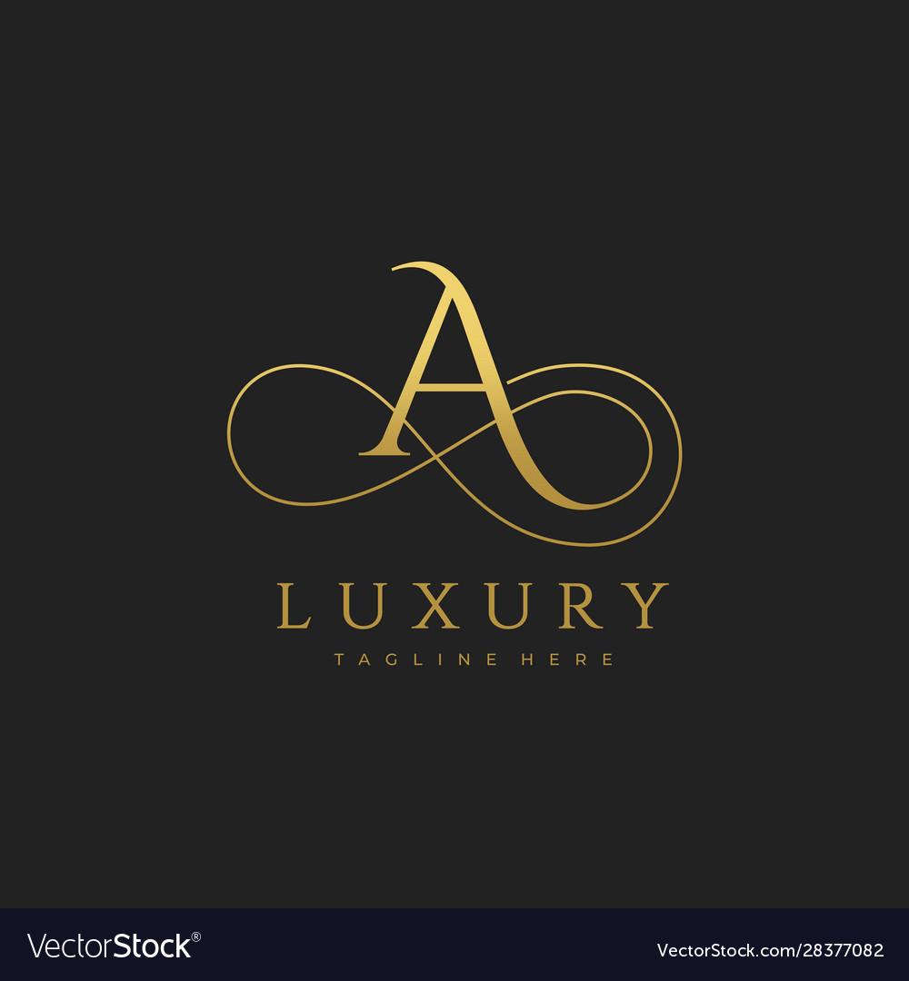A luxury letter logo design
