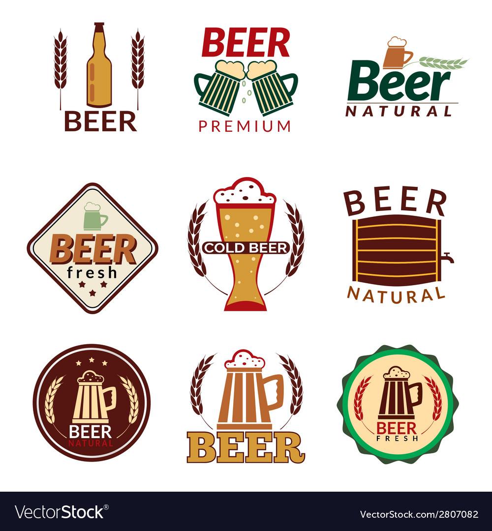 Beer colored emblems