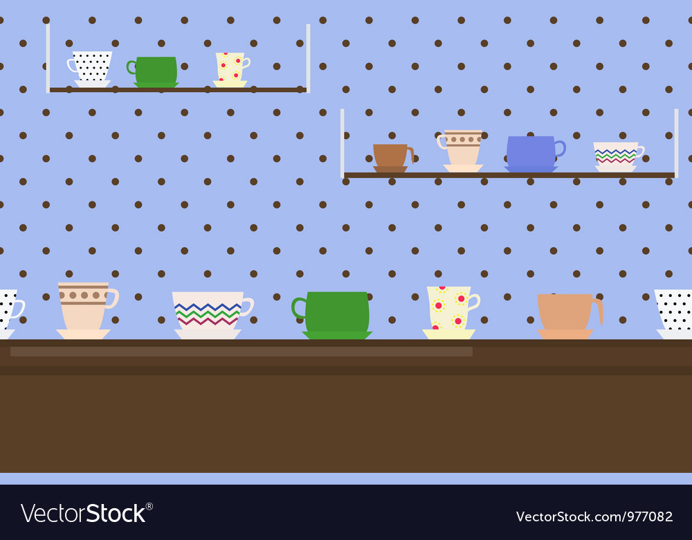 Border with cups vector image