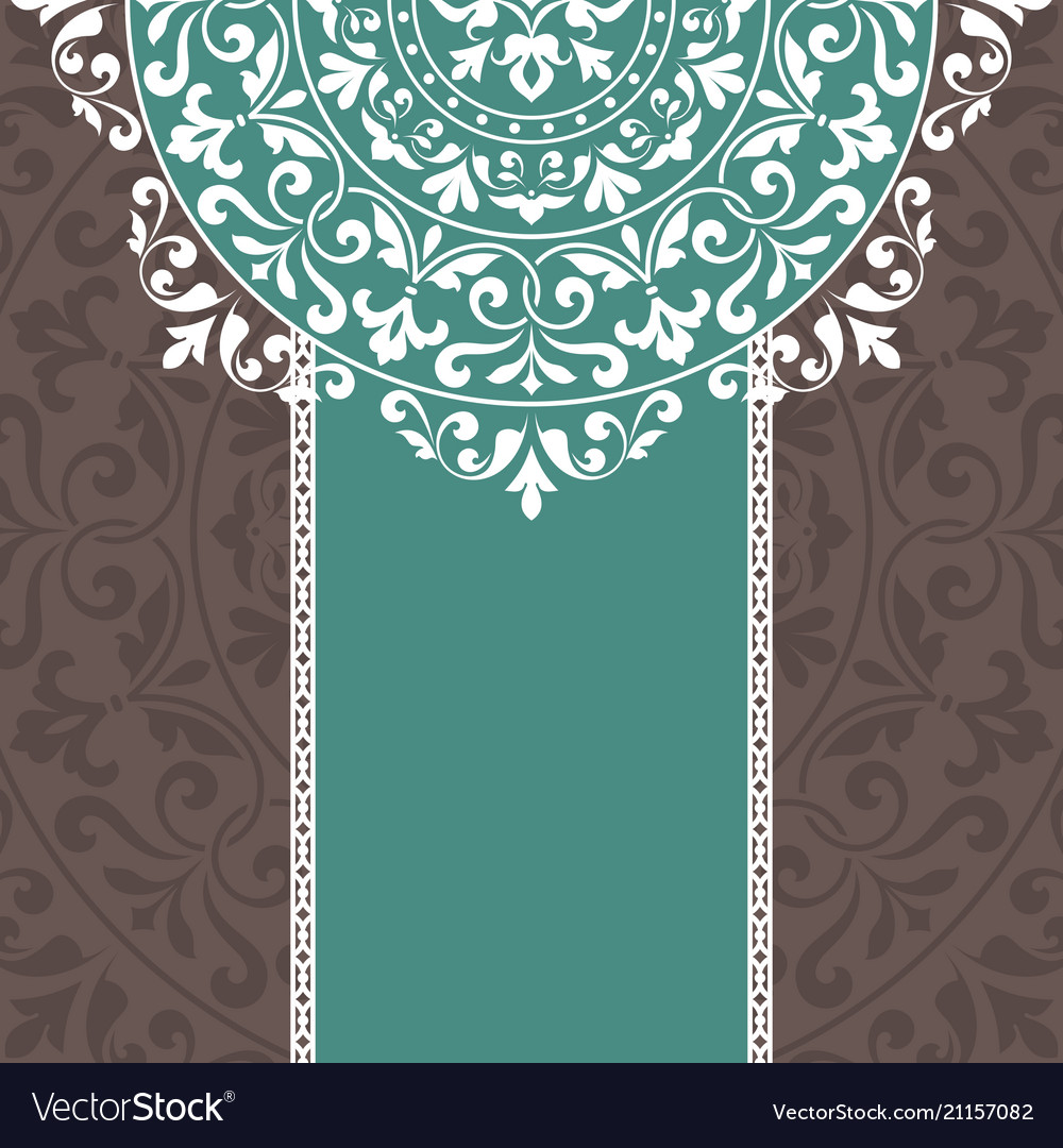 Invitation card with vintage ornament